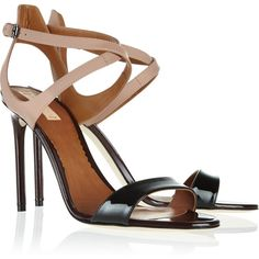 Reed Krakoff Color-block rubberized and patent-leather sandals