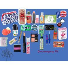 Girl Emergency Kit – Back to School School Emergency Kit, Emergency Kit For Girls, School Kit, Back To School Supplies, Emergency Kits, College Supplies, Girl Survival Kits, Urban Survival Kit, School Survival Kits