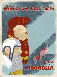 Dwarf Propaganda Poster 'United' by DwalinF