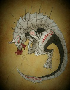 RWBY Bestiary: Scaraiathus by on DeviantArt Monster Concept Art, Fantasy Monster, Monster Art, Creature Concept Art, Creature Design, Mythological Creatures, Mythical Creatures, Rwby Grimm, Character Art