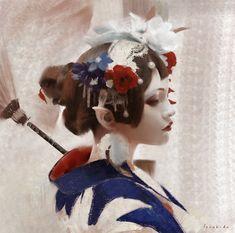 Elf in Kimono, lius lasahido on ArtStation at https://www.artstation.com/artwork/an6Rk