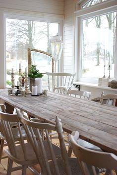 Extra long farmhouse  outdoor backyard table