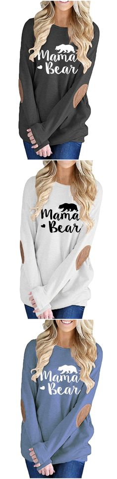Check out our latest collection of Women S Letter Printed Long Sleeve Pullover Tee, perfect for various occasions from day to night hours. Shop for a range of Women S Letter Printed Long Sleeve Pullover Tee styles with Roawe. Fall Outfits, Cute Outfits, Fashion Outfits, Fashion Trends, Latest Fashion, Fashion Women, Mama Bear Sweatshirt, Women's Shoes, Costume