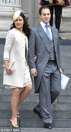 Shinjinee writes (19 April 2015):  Lord and Lady Frederick Windsor at an official Royal event.  Lady Frederick is the actress Sophie Winkleman, and they have a daughter Maud Windsor, born the same year as Prince George..