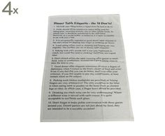Set van 4 theedoeken Don't en Do, wit/zwart, 70 x 50 cm | Westwing Home & Living