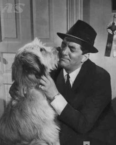 Dean Martin with actor dog in All In A Night's Work