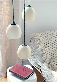diy pendant lights   DIY Your Own Ostrich Egg Pendant Lights Readymade   Apartment Therapy