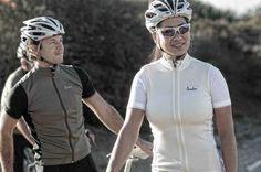 Isadore Signature ladies cycling jersey Antique white / Bright White