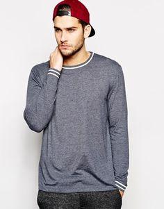 Enlarge ASOS Skater Long Sleeve T-Shirt With Piping