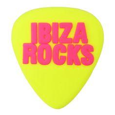 Ibiza Rocks: Plectrum Fridge Magnet in Yellow