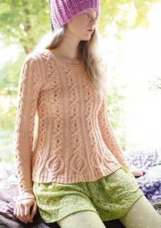 Rosa Pullover mit Schößchen gestrickt mit ggh-Garn MAXIMA, Garnpaket zu Modell 12 aus Rebecca Nr. 56 #stricken #knittingpattern