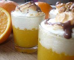 Rezept Orangenpudding mit Baiserhaube von Jagga - Rezept der Kategorie Desserts