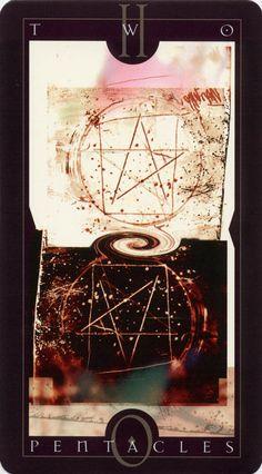 Dave McKean: Vertigo Tarot: Two of Pentacles Divine Tarot, Dave Mckean, Tarot Readers, Fantasy Inspiration, Artist Trading Cards, Pentacle, Oracle Cards, Comic Book Artists, Tarot Decks