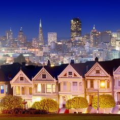 """The painted ladies after dark by @lino_photography"""