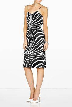 Zebra Print Satin Camisole Top by Carven