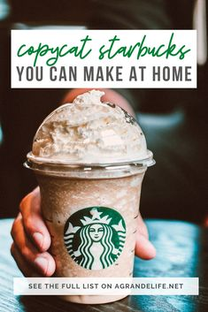 Skip the drive-thru and make your own coffee drinks at home at a fraction of the cost with these Copycat Starbucks Recipes! Starbucks Caramel Macchiato Recipe, Ice Caramel Macchiato, Starbucks Vanilla, Caramel Frappuccino, Homemade Frappuccino, Frappuccino Recipe, Starbucks Egg Bites, Starbucks Recipes, Skinny Peppermint Mocha