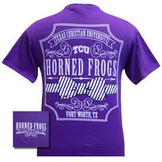New Texas TCU Horned Frogs Pattern Prep Bow Girlie Bright T Shirt   SimplyCuteTees