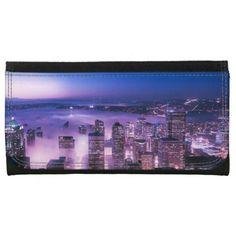 Purple Shades Seattle Panorama Wallets