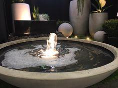 Water feature bubbler - classic wok Stone Bowl, Wok, Water Features, Garden Inspiration, Natural Stones, Fountain, Goals, Classic, Modern