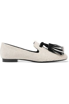 Proenza Schouler - Tasseled Woven Canvas Loafers - Off-white - IT