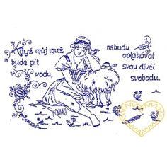 Nástěnná textilní kuchařka - Když můj muž bude pít vodu Bude, European Countries, Embroidery, Czech Republic, Needlepoint, Bohemia, Crewel Embroidery, Embroidery Stitches