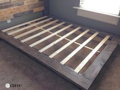 Hey there! Join us on Instagram and Pinterest to keep up with our most recent projects and sneak peeks! Hey guys! I'm back to share the platform bed that I made for my son If you missed the Free Plans for the Planked Headboard, you can check them out HERE! I saw a platform bed …
