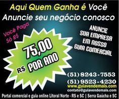 R$ Só 75,00 Reais Por Ano Guia Comercial Online