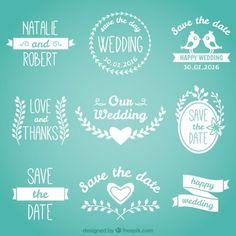 emblemas casamento bonito na cor branca