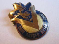 Vintage 1942 Lone Ranger Victory Corp Premium Pin Tab TLR Inc 1940's Mail Away | eBay