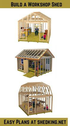 These 12x16 shed plans are perfect for building that workshop shed you've always wanted. Storage space in the loft for your woodworking supplies, and lots of room below for all your power tools. Learn more about these detailed full color plans that come with shed building guide, materials list and email support. Learn more by clicking the link below. 3d Building Models, Work Shop Building, Shed Building Plans, Diy Shed Plans, Barn Plans, Backyard Storage Sheds, Shed Storage, Storage Spaces, Big Sheds