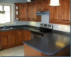 Rustoleum Countertop Paint Earth : New-to-Me Countertops - Painted with Beauti-Tone Countertop ...