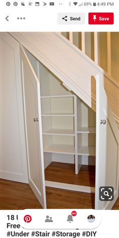 How to Make Use Of Space Under Stairs . How to Make Use Of Space Under Stairs. 18 Useful Designs for Your Free Under Stair Storage Under Under Basement Stairs, Storage Under Staircase, Closet Under Stairs, Space Under Stairs, Stair Shelves, Diy Storage Shelves, Under Stairs Cupboard, Stairs With Storage, Understairs Storage Ideas