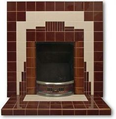 This fireplace insert is typical of a 1920s fireplace. As the name suggests it is reminiscent of the Geometric Art Deco patterns associated with the New York Skyline.