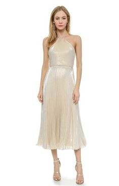 Jill Jill Stuart, pleated halter dress, $568, available at Shopbop.