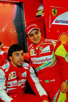 Fernando Alonso & Felipe Massa at the 2013 Grande Premo PETROBRAS Do Brasil @ Interlagos