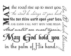 Irish Blessing Subway Art- one of my fav printable also comes in black and white Great Quotes, Me Quotes, Inspirational Quotes, St Paddys Day, St Patricks Day, Old Irish Blessing, Irish Prayer, Irish Poems, Irish Sayings