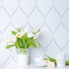 Cutting Edge Stencils - Serenity Allover Stencil 1/2 bath? Same color; gloss over matte for a barely noticeable pattern?