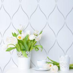 Serenity trellis design stencil pattern - decorative wall stencils for beautiful…
