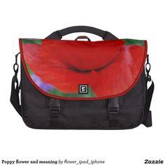 Red Poppy flower laptop bag from Zazzle
