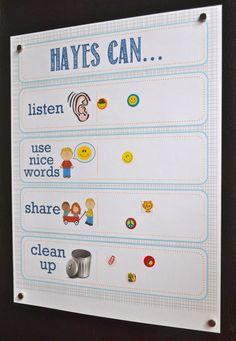 Printable toddler incentive chart- also great for Pre-K to grade! Toddler Chart, Toddler Fun, Toddler Activities, Toddler Rules, Toddler Reward Chart, Toddler Stuff, Kids Rewards, Sticker Chart, Behaviour Chart