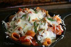 I Thee Cook: Baked Sausage and Pepper Cacciatore Rigatoni #pmedia #mealsolutionmatch #ad @barillaus @galbanicheese @johnsonville