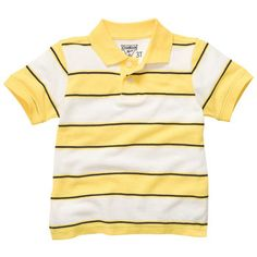 Short Sleeve Striped Polo Shirt