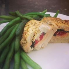 Ricotta Basil Red Pepper Stuffed Chicken Breast on Healthy Momma