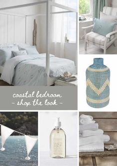 seaside interiors and coastal decoration ideas including these calm and restful coastal bedroom ideas with shop the looks to help you bring the seaside to your home #seaside #coastal #interiors #bedroom #frombritainwithlove Coastal Bedrooms, Coastal Homes, Coastal Style, Coastal Decor, Painted Floorboards, Cottages By The Sea, Beach House Decor, Home Decor, White Houses
