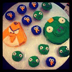 Angry Birds for Jasper Angry Birds, Jasper, Sugar, Cakes, Desserts, Food, Tailgate Desserts, Deserts, Mudpie