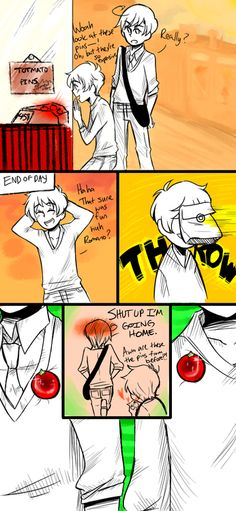 Awww! See, this is why I love Romano. He may cuss a lot...and is a tsundere...but he's really a sweet guy...like Karkat x33!