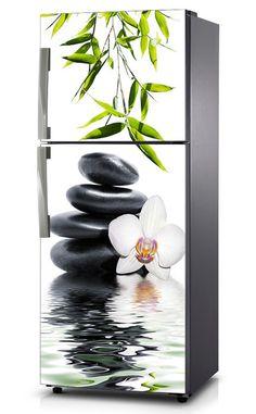 Naklejka na lodówkę - Biała orchidea