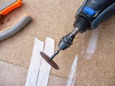 Cutting glass made easy-using Dremel cutting tool