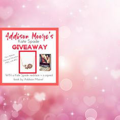 Addison Moore's *KATE SPADE* Giveaway!very fast & easy to enter ! I Love Books, Books To Read, My Books, Addison Moore, Kate Spade Gifts, Instant Win Sweepstakes, Prize Giveaway, Project Ideas, Projects