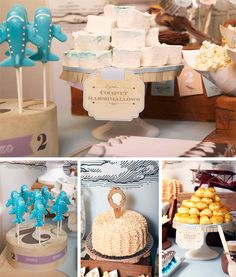 Vintage Transportation Party Ideas! Cute airplane cake pops!